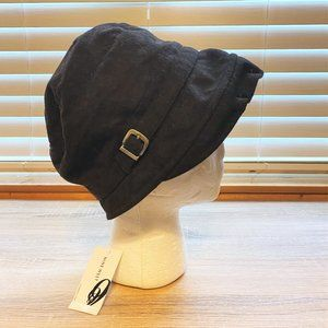 NWT Sz OS Nine West Brown Wool Blend Wool Bonnet